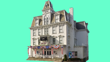 The historic Goodspeed Opera House is perfectly located on the banks of the Connecticut River.