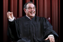 Edward Gero as Justice Scalia in The Originalist at Arena Stage at the Mead Center for American Theater March 6-April 26, 2015. Photo by Tony Powell.