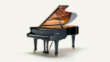 Considered the Ferrari of pianos, the Fazioli f212 is a mock 19th century grand piano noted for its excellent balance between the bass and treble and a wide dynamic range. These qualities render this instrument particularly well suited for the concert hall and recording studio.