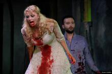 Melody Bates as Juliet and Matt Hurley as Romeo. Photo by Karen Galella