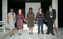 "Cast of The Provincetown Theater's world-premiere production of ""The Gift,"" by Steve Lyons. Photo Bobby Miller."