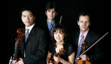 The Avalon String Quartet is Blaise Magniere, violin; Marie Wang, violin; Anthony Devroye, viola; Cheng-Hou Lee, cello; Yehuda Hanani, cello.