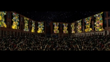 Clifford Ross: MASS MoCA Courtyard, Video Concept. Photo: Harriet Lauretsen.