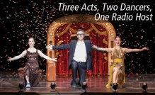 Anna Bass, Ira Glass, and Monica Bill Barnes in Three Acts, Two Dancers, One Radio Host; photo David Bazemore.