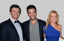 (l to r) Bryce Pinkham, Colin Donnell and Patti Murin headline Sharon Playhouse Gala.