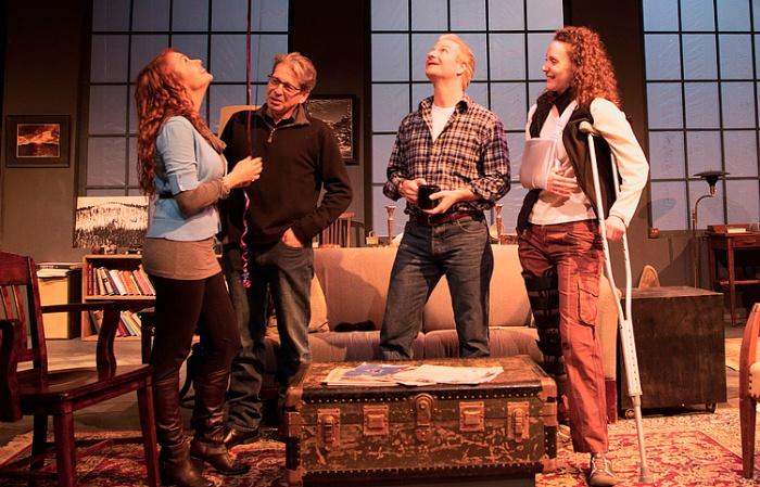 (r to l)   Marianna Bassham as Sarah, Jason Guy as Jamie, Richard Howe as Richard, Kristin Parker as Mandy. Photo: Mike Cutler MHCPhotography