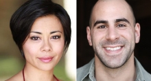 Berkshire Theatre Group's Production of Frankie and Johnny In the Clair de Lune, directed by Karen Allen features Angel Desai (l) as Frankie and Greg Vrotsos as Johnny (r).
