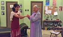 (l to r) Alyssa Chase and Joan Coombs in Moon Over Buffalo at The Theater Barn through July 5, 2015.