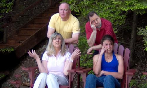 Cathy Lee-Visscher and Dierdre Bollinger with Brian Litscher and Monk Schane-Lydon.