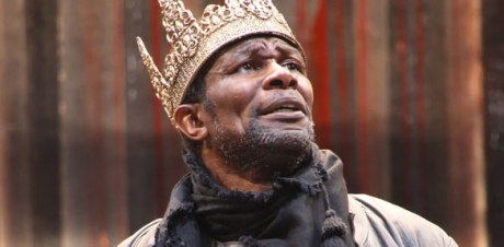 John Douglas Thompson will narrate Copland's Lincoln Portrait on the July 4  weekend.  He is seen here in a rare production of Tamburlaine at Brooklyn's Theatre for a New Audience. Photo: Gerry Goodstein