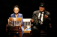 "(l to r) Angela Lansbury and James Earl Jones may be very different, yet are joined at the hip in ""Driving Miss Daisy."""
