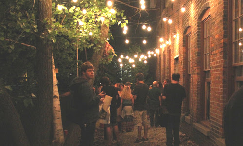 Mass MoCA's beer garden is a festive way to spend a summer's eve.