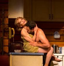 Kyra Sedgwick (Faye Garrit) and Aaron Costa Ganis (Gino). Photograph T .Charles Erickson.