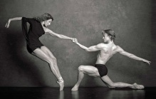 Celine Cassone (Les Ballet Jazz de Montreal) and Daniil Simkin.