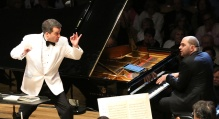 Jacques Lacombe conducts Gershwin Piano Concerto in F  with Kirill Gerstein, soloist. (Hilary Scott photo)