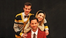 A.J. Shively (Charley), Lauren Marcus (Mary) and Jason Tam (Frank). Photo by Cait Weisensee.
