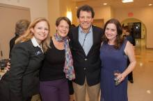 WAM's inspiration, Nicholas Kristof, with starstruck Kristen van Ginhoven (WAM's founder) , Ashley Berridge (WAM's Board President), and Jessica Provenz (Benefit Producer).