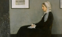 "James McNeill Whistler's ""Arrangement in Gray and Black No. 1: Portrait of the Artist's Mother""."