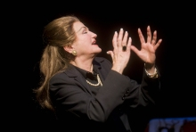 """Annette Miller as the legendary Maria Callas in """"Master Class"""". Photo by Kevin Sprague."""