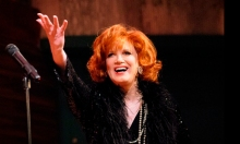 Charles Busch on stage. Photo by Stephen Sorokoff.