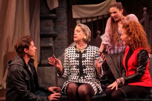 (l to r) JD Taylor, Carole Monferdini, Haley Bond, Annie Meisels in I Hate Hamlet.