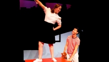 "Caitlin Mesiano and Michael Luongo in ""john & jen""  at The Theater Barn in New Lebanon, NY from July 30th through August 9th, 2015."