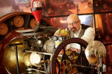Bruce Rosenbaum presents a talk on Saturday, from 10-11 at the Hartness House Inn. The subject of his talk: Steampunk Creative Problem Solving: How the Past Influences the Present and Inspires the Future. This will be followed by a tea for one on one Q&A with Rosenbaum.