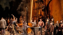 "A scene from Verdi's ""Il Trovatore."" Photo by Ken Howard/Metropolitan Opera."