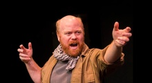 Michael F. Toomey in rehearsal. Photo by Jon Hed.