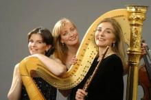 Carol Wincenc, flute;  Nancy Allen, harp; and Cynthia Phelps, viola.