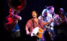 Red Baraat builds on the traditional sounds of North Indian brass bands. Photo by James Bartolozzi.
