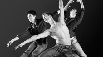 Syvert, Lukas and Torgeir in Ballet Boys, a dance documentary directed by Kenneth Elvebakk.