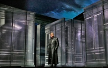 "Željko Lučić as Iago in Verdi's ""Otello"". Photographed by Ken Howard/ Metropolitan Opera."