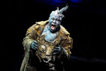 """Owens, a highly regarded young American bass-baritone recently thrust into the spotlight for his gripping performances as Alberich in Wagner's """"Ring des Nibelungen"""" at the Metropolitan Opera. Here he is seen in the title role of  """"Grendel"""" at the New York State Theater in 2006. Photo by Stephanie Berger"""
