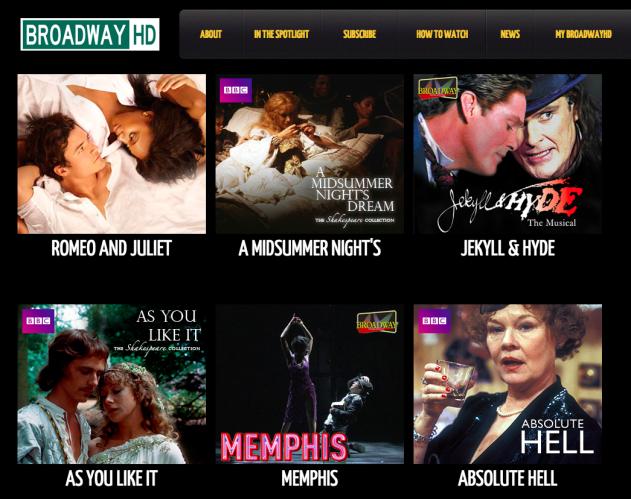 Screen shot of BroadwayHD