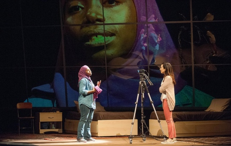 (l-r) Donnetta Lavinia Grays and Hend Ayoub. Photo by Kevin Sprague.