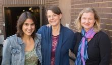 Director Megan Sandberg-Zakian, WAM Producer Kristen Van Ginhoven and playwright Catherine Trieschmann.