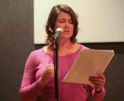 """Michelle Seaton reads her essay, """"How to Work a Locker Room"""""""