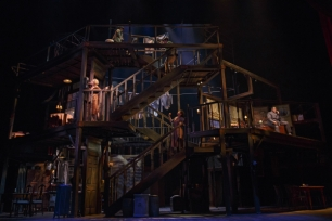 Beowulf Boritt's Tony-nominated set for Act One at Lincoln Center.