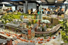 In Hamburg, Germany, the oversized railroad museum is a major attraction.