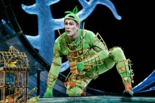 """Nathan Gunn as Papageno in Mozart's ""Die Zauberflöte.""  Photo:  Ken Howard/Metropolitan Opera"""