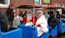 Free Roaming Railroad rides with Santa and Mrs. Claus.