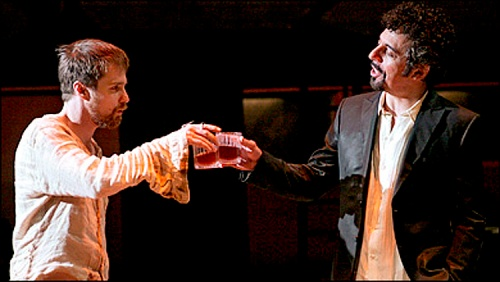 Sam Rockwell and Eric Bogosian in The Last Days of Judas Iscariot.