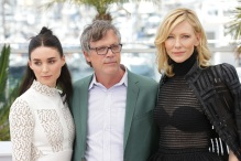 "In Cannes, Rooney Mara, director Todd Haynes and Cate Blanchett whose film ""Carol"" was a hit."