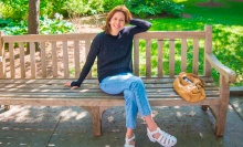 Jessica Hecht on a summer day in Williamstown.