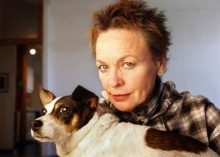 Laurie Anderson with her dog Lolabele.