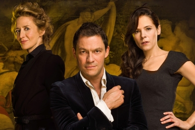 Elaine Cassidy, Janet McTeer and Dominic West in Les Liaisons Dangereuses.
