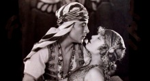 Rudolph Valentino (l) and Vilma Bankey in Son of the Sheik.