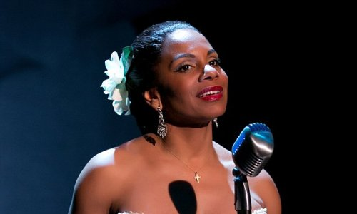 Audra McDonald as Lady Day in the HBO Special.