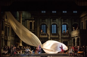 A scene from Bartlett Sher's new production of Gounod's Roméo et Juliette. Photographed here at La Scala. Photo: Brescia/Amisano